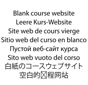 kurswebsite